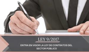Entrada en vigor de la nueva Ley de Contratos del Sector Público