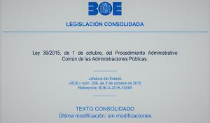 Nociones básicas en torno a la Ley 39/2015