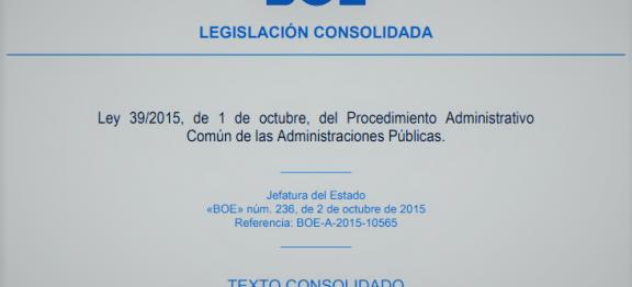 Ley 39/2015 Nociones básicas en torno a la